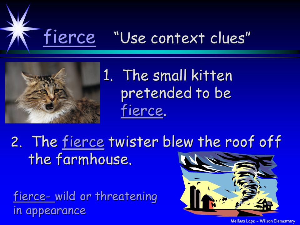 fierce Use context clues