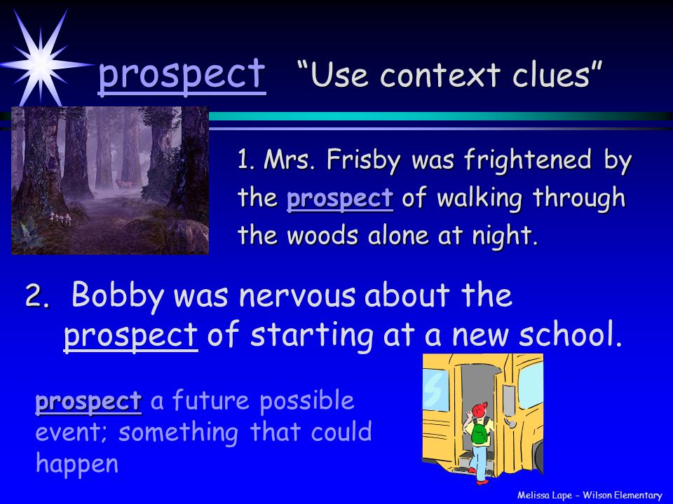 prospect Use context clues