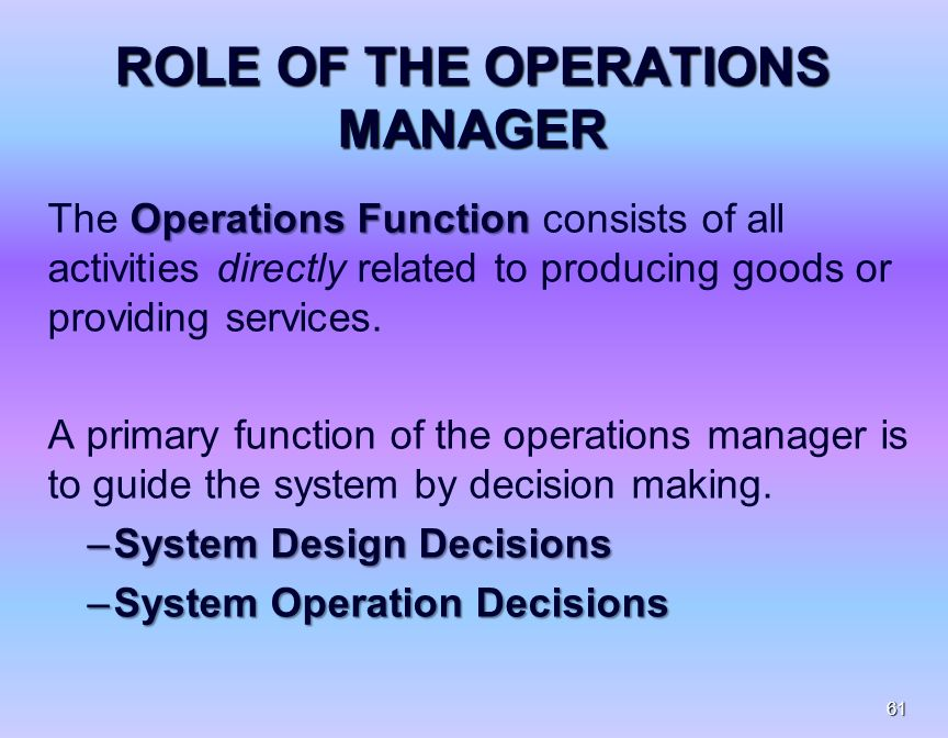 role of operations manager pdf