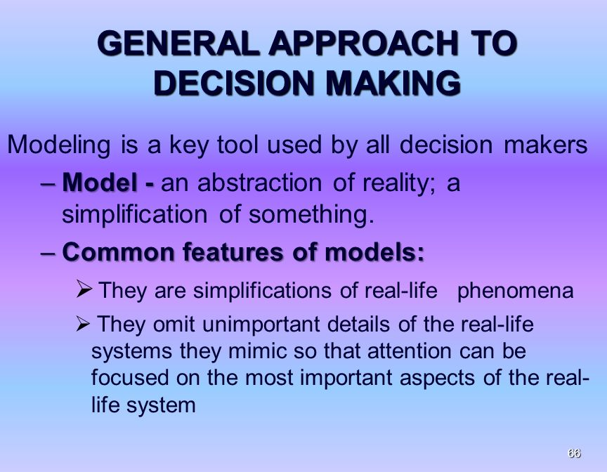 the systematic approach to decision making The rational decision-making model is a structured and sequential approach to decision-making, aimed at seeking precise solutions to well-defined problems using precise methods the decision maker derives the necessary information by observation, statistical analysis, or modeling, and makes a systematic analysis of such 'hard' quantitative data.