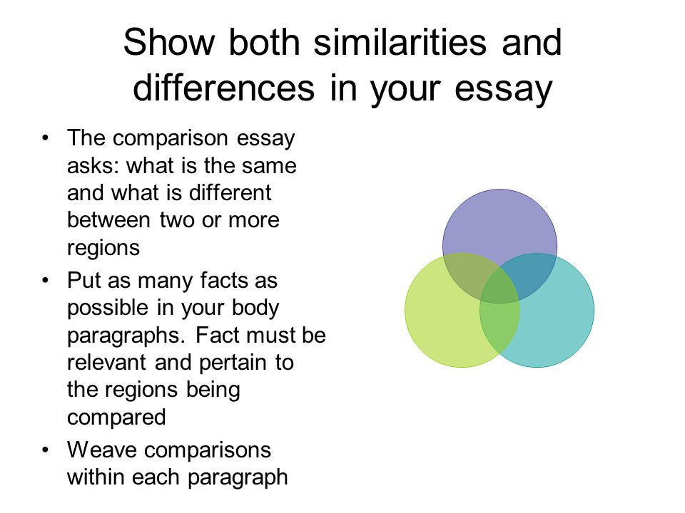 similarities and also dissimilarities somewhere between only two places essay