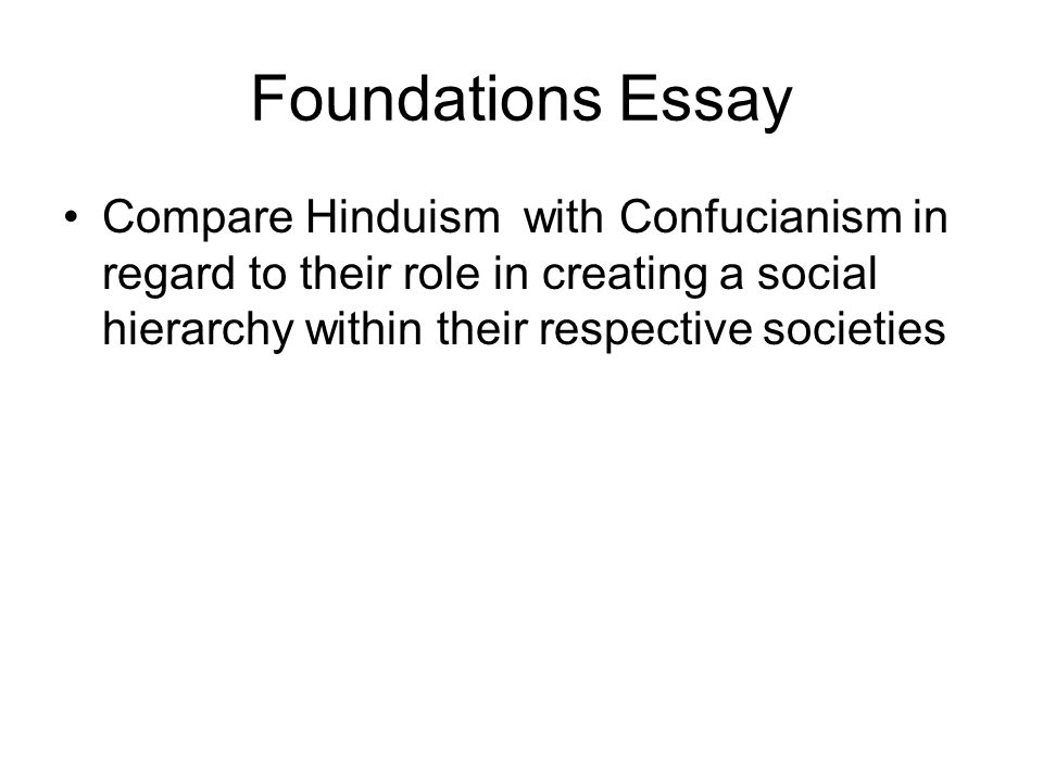 writing the comparative essay ppt video online  5 foundations essay compare hinduism confucianism