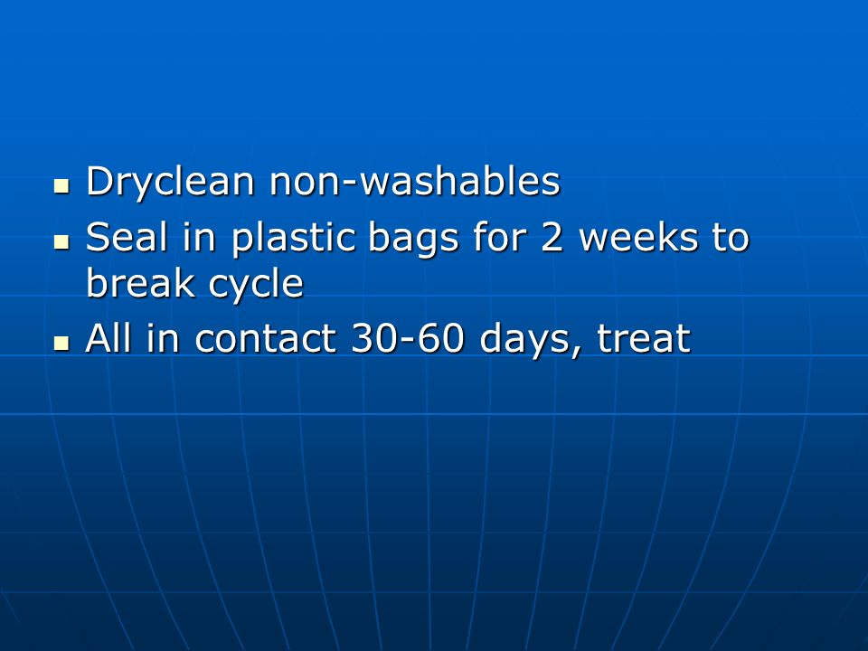 Dryclean non-washables