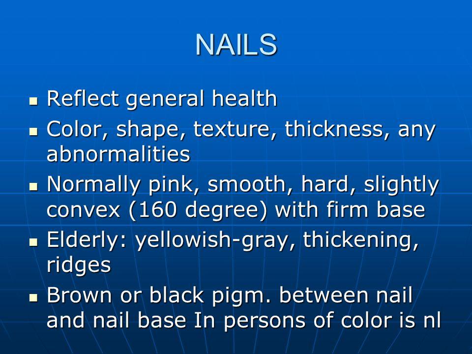 NAILS Reflect general health