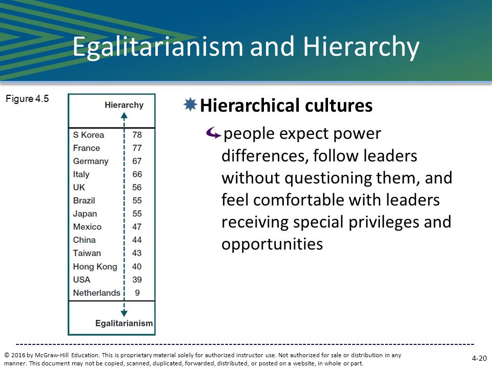 egalitarian vs status cultures