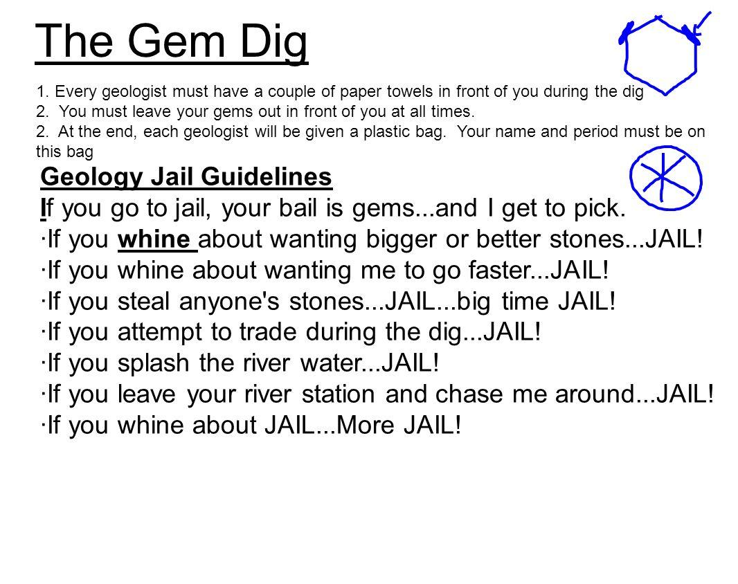 The Gem Dig Geology Jail Guidelines