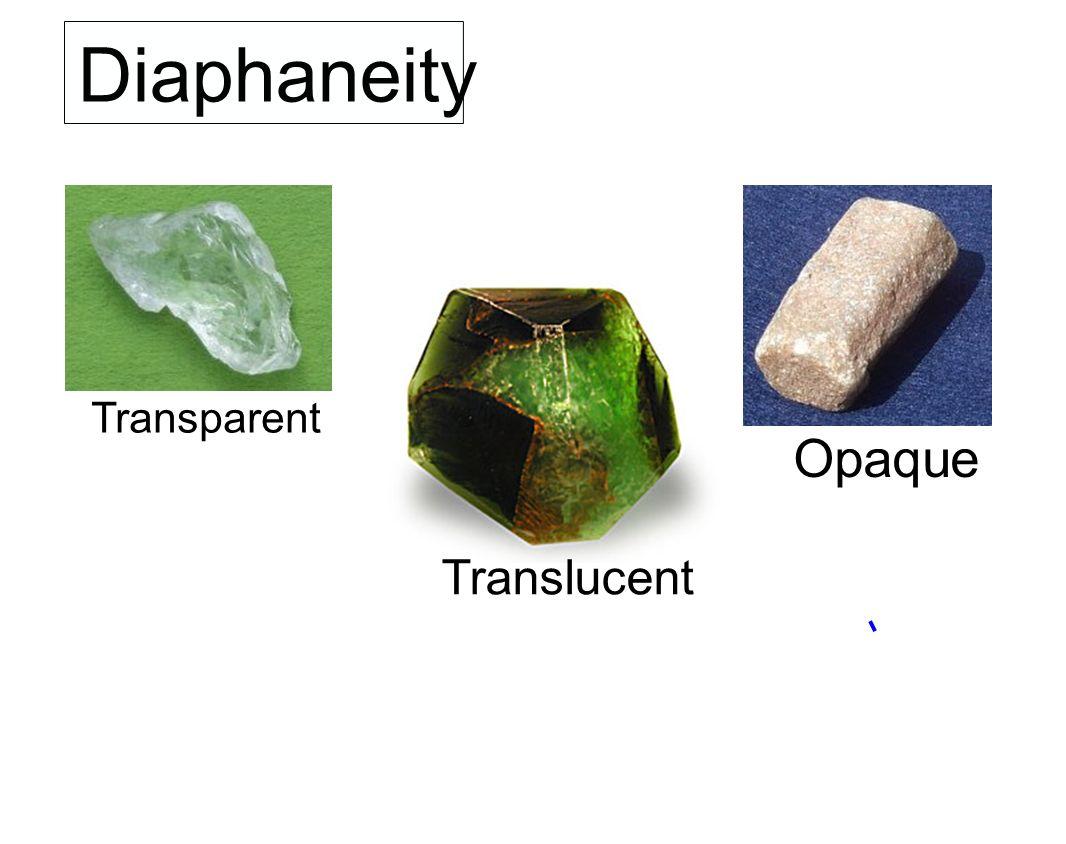 Diaphaneity Transparent Opaque Translucent