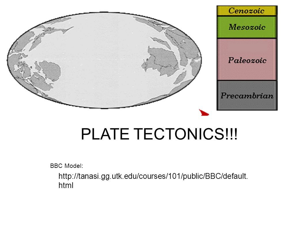 PLATE TECTONICS!!! BBC Model: http://tanasi.gg.utk.edu/courses/101/public/BBC/default.html