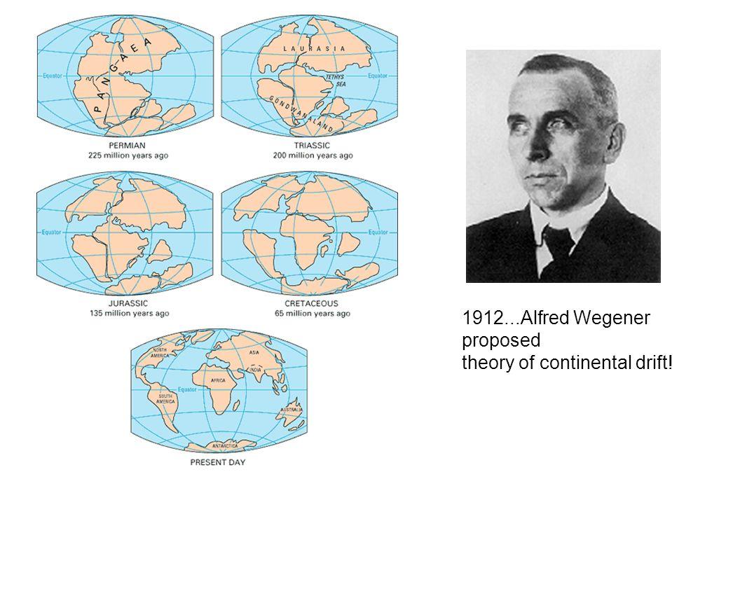 1912...Alfred Wegener proposed
