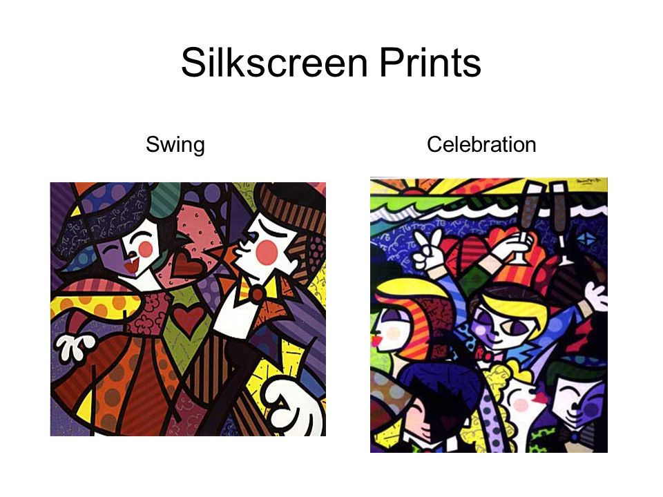 Silkscreen Prints Swing Celebration