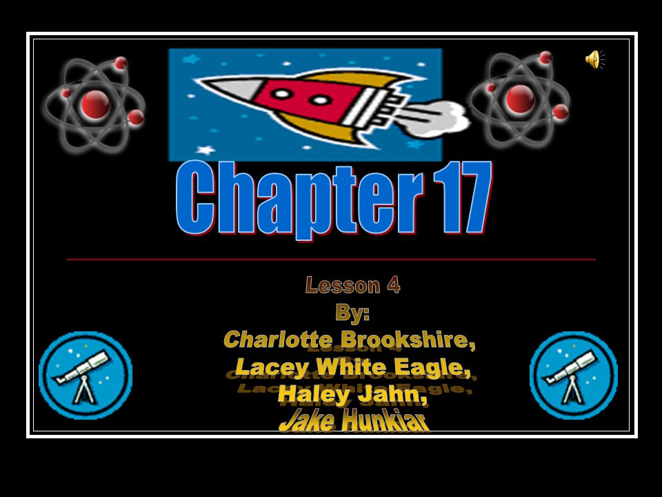 Chapter 17 Lesson 4 By: Charlotte Brookshire, Lacey White Eagle, Haley Jahn, Jake Hunkiar