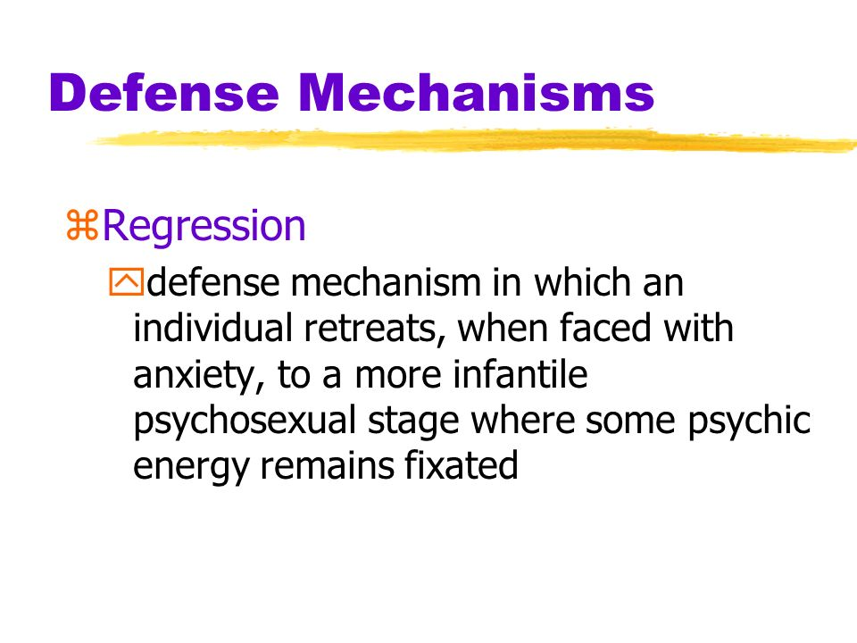Defense Mechanisms Regression