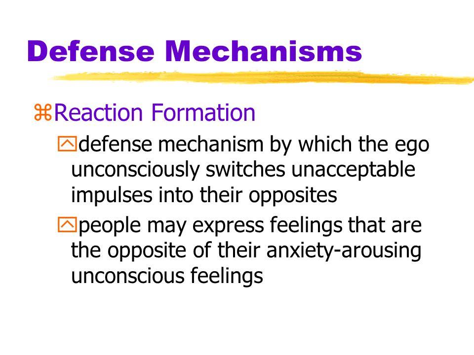 Defense Mechanisms Reaction Formation