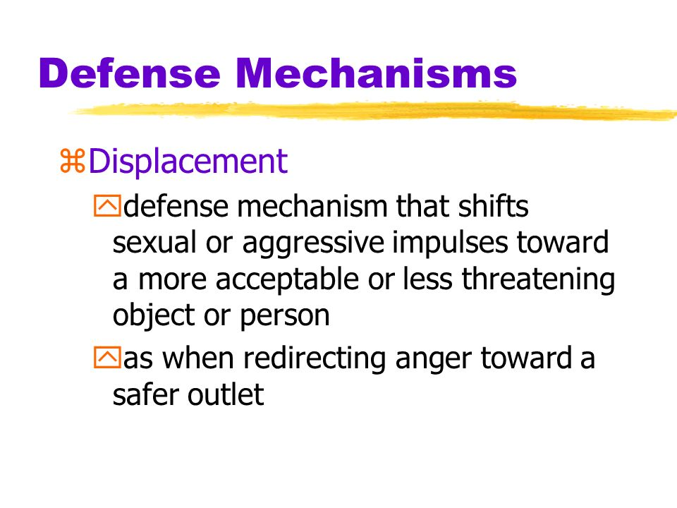 Defense Mechanisms Displacement