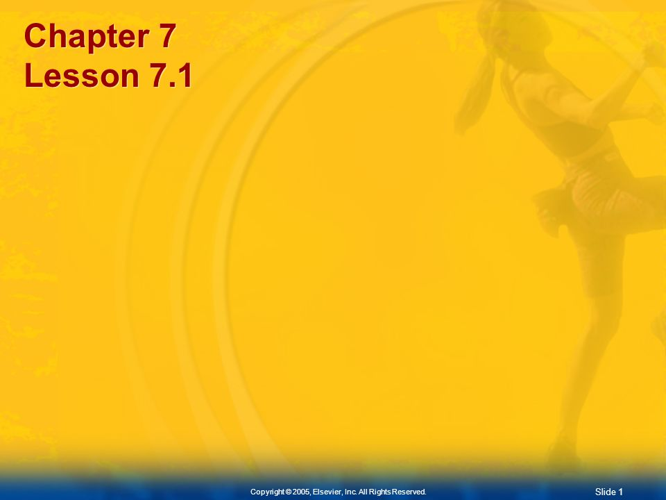 Chapter 7 Lesson 7.1