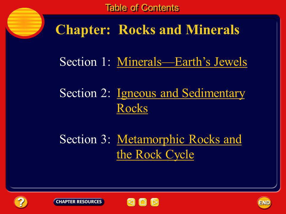 Chapter: Rocks and Minerals