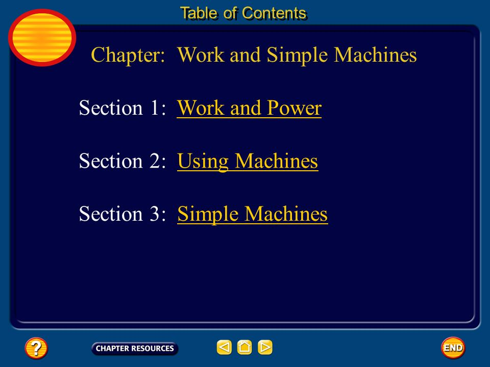 Chapter: Work and Simple Machines