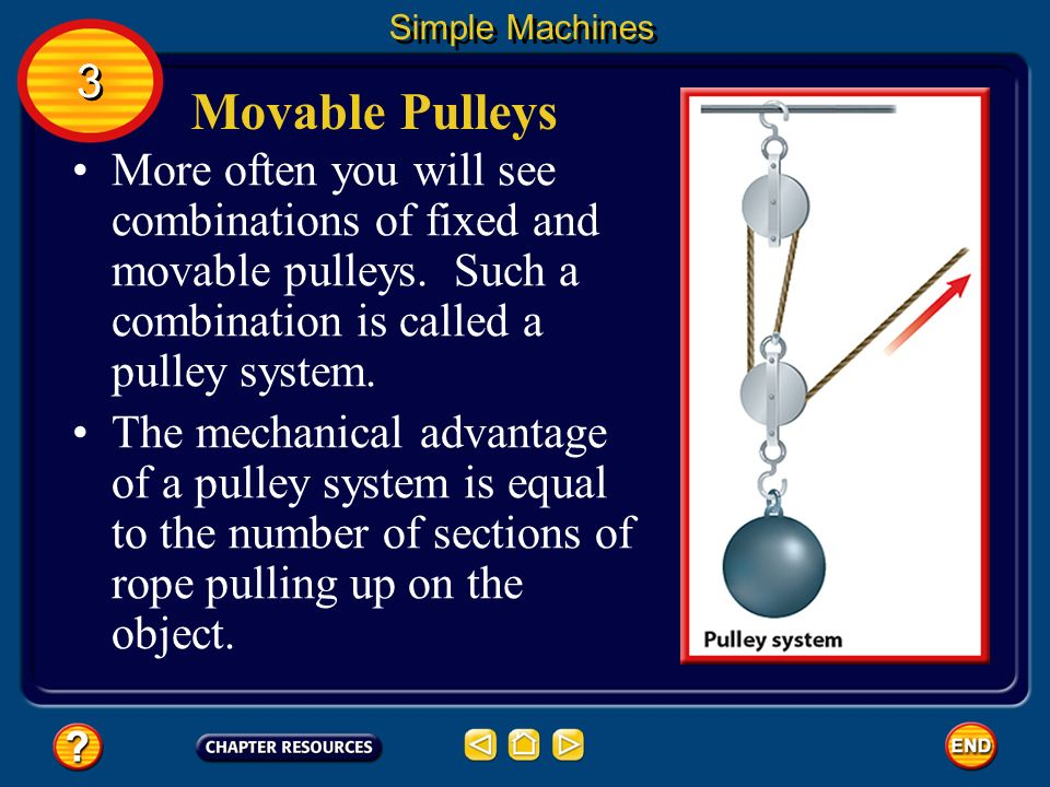 Simple Machines 3. Movable Pulleys.