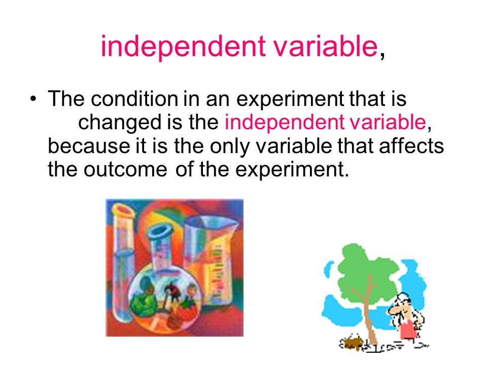 independent variable,