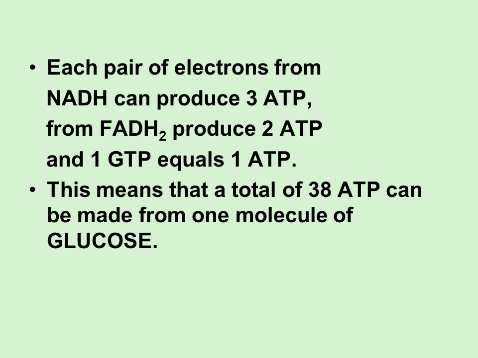 Each pair of electrons from