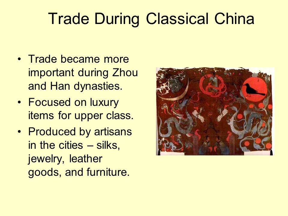 Trade During Classical China