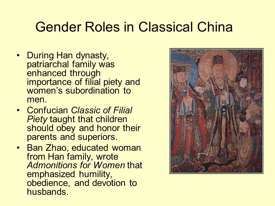 Gender Roles in Classical China