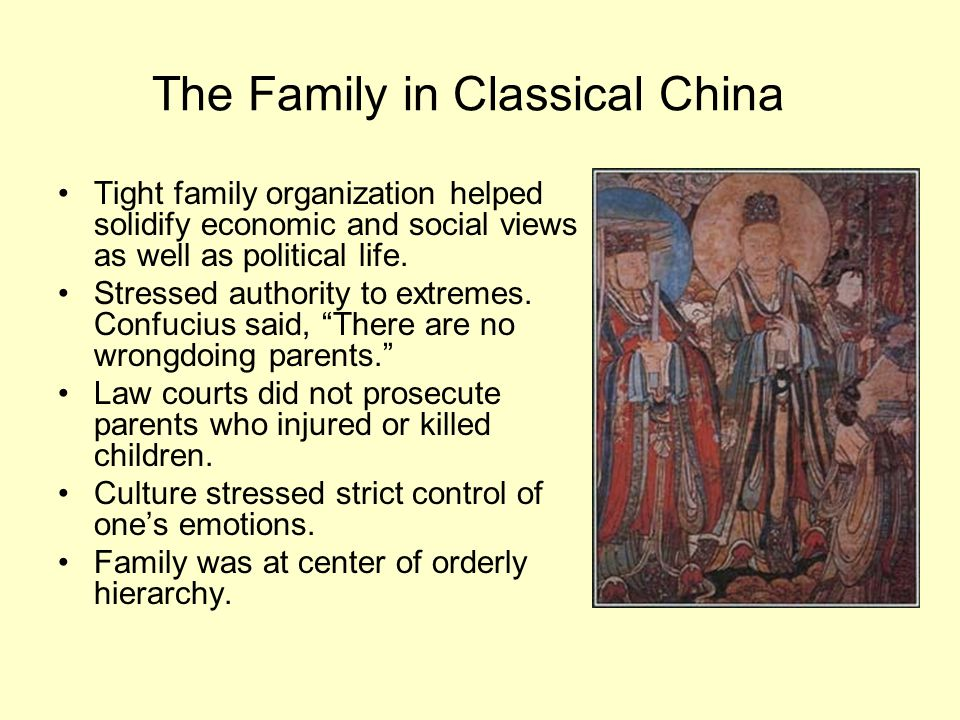 The Family in Classical China