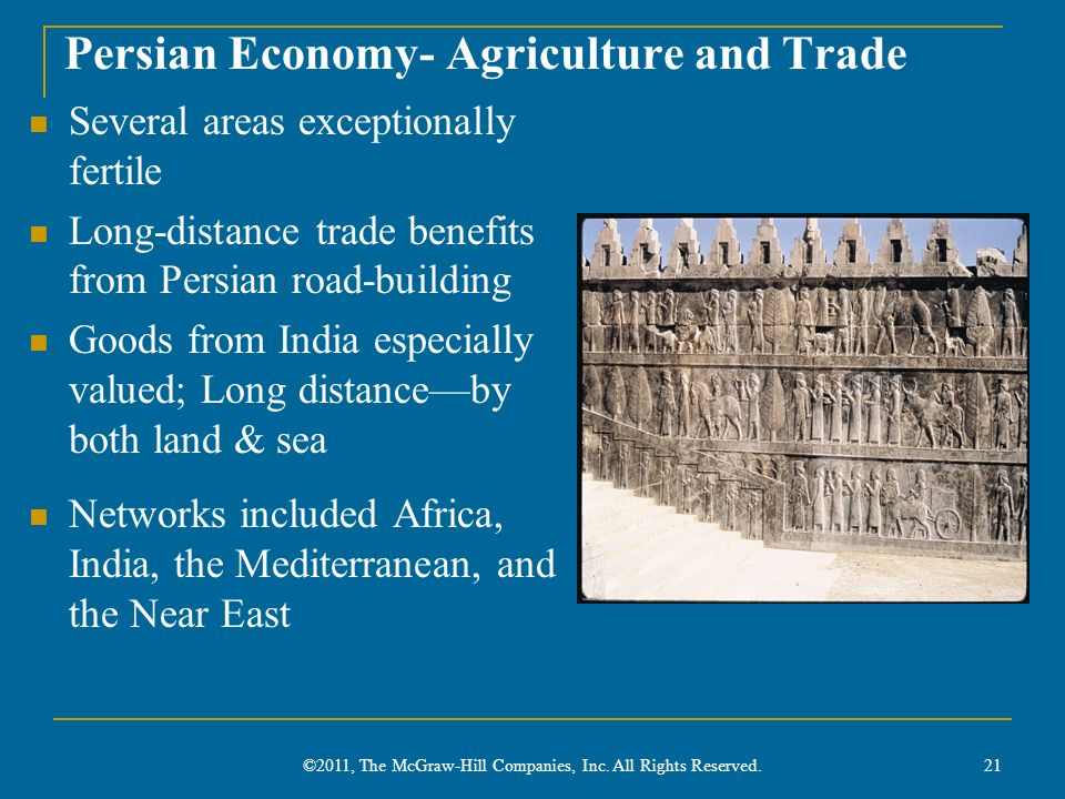 Persian Economy- Agriculture and Trade