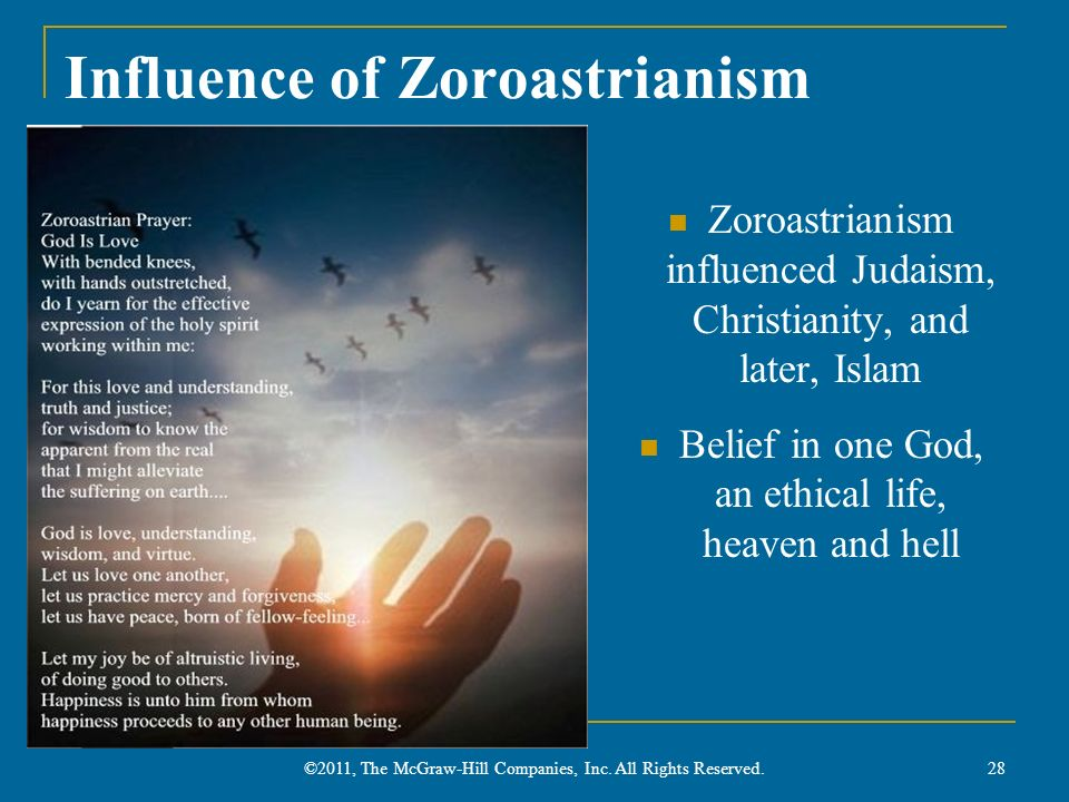 Influence of Zoroastrianism