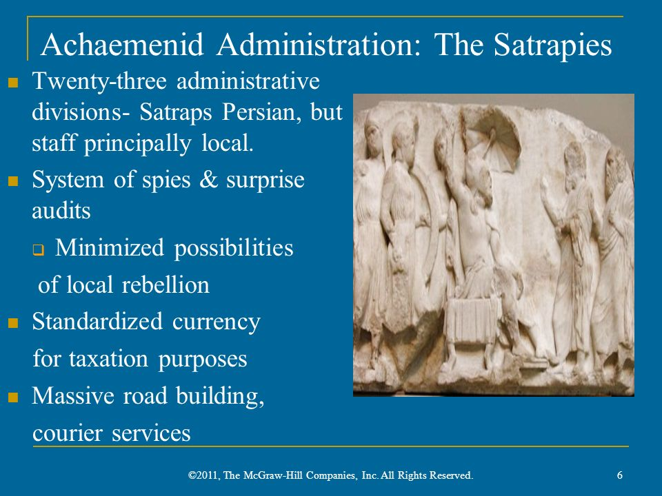Achaemenid Administration: The Satrapies