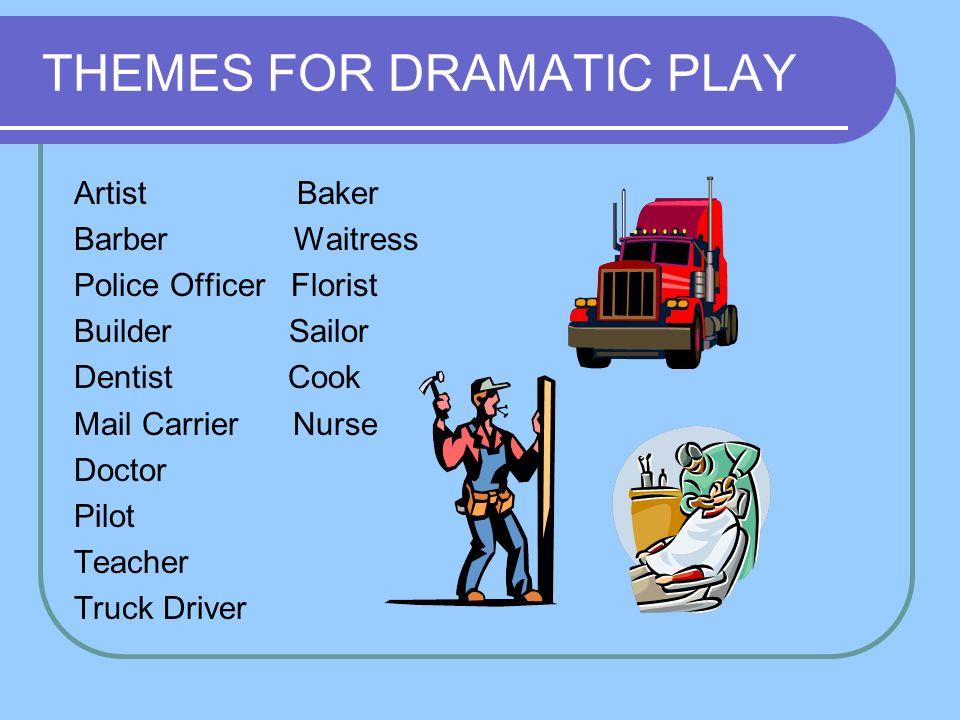 THEMES FOR DRAMATIC PLAY