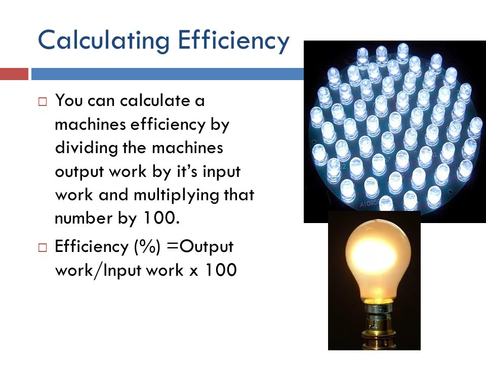 how do you calculate the efficiency of a machine