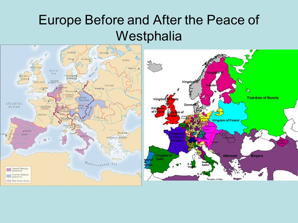 Europe Before and After the Peace of Westphalia