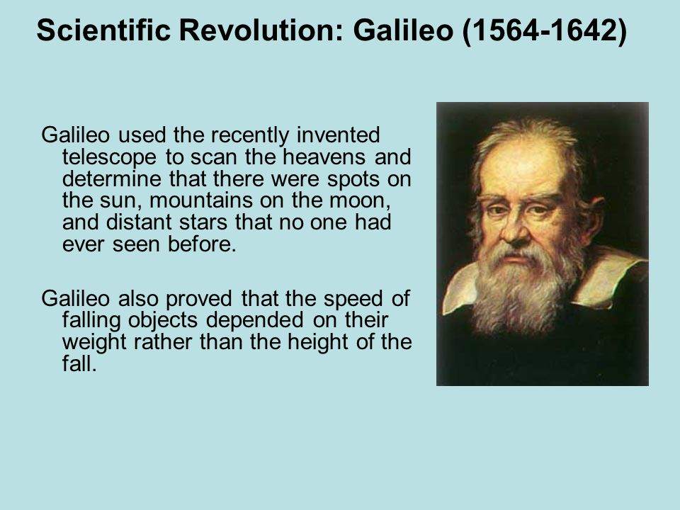Scientific Revolution: Galileo (1564-1642)