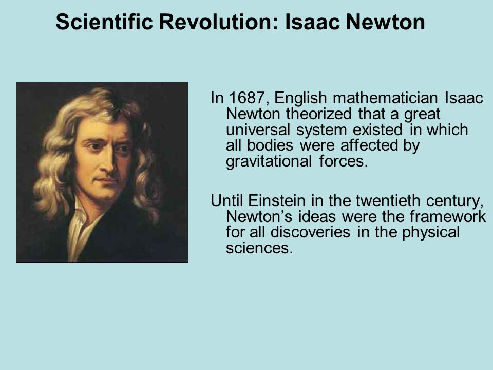 Scientific Revolution: Isaac Newton