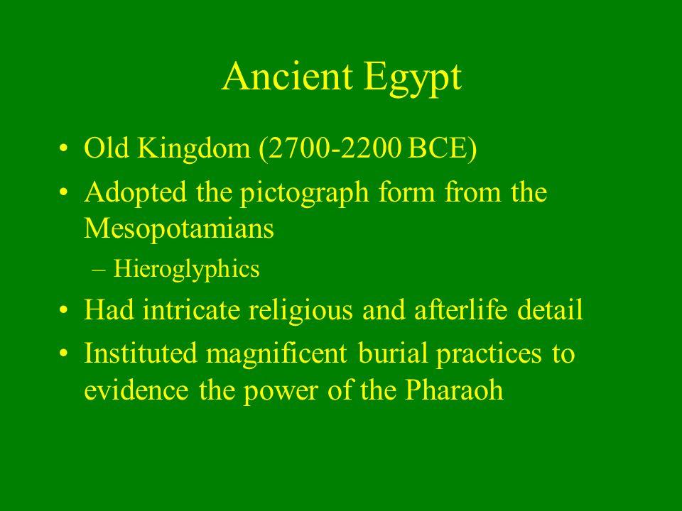 Ancient Egypt Old Kingdom (2700-2200 BCE)