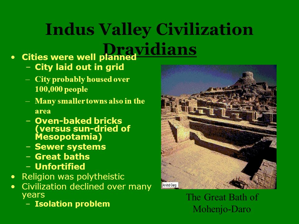 Indus Valley Civilization Dravidians