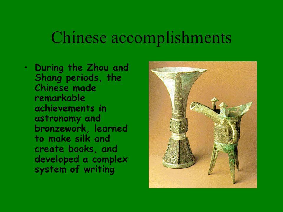 Chinese accomplishments