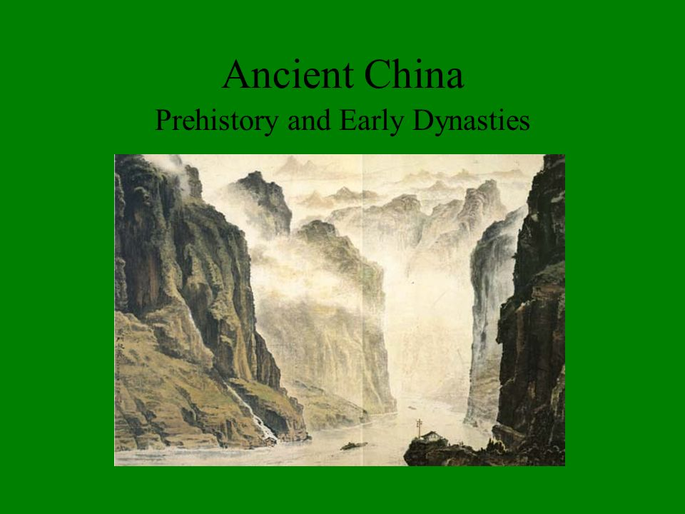 Prehistory and Early Dynasties