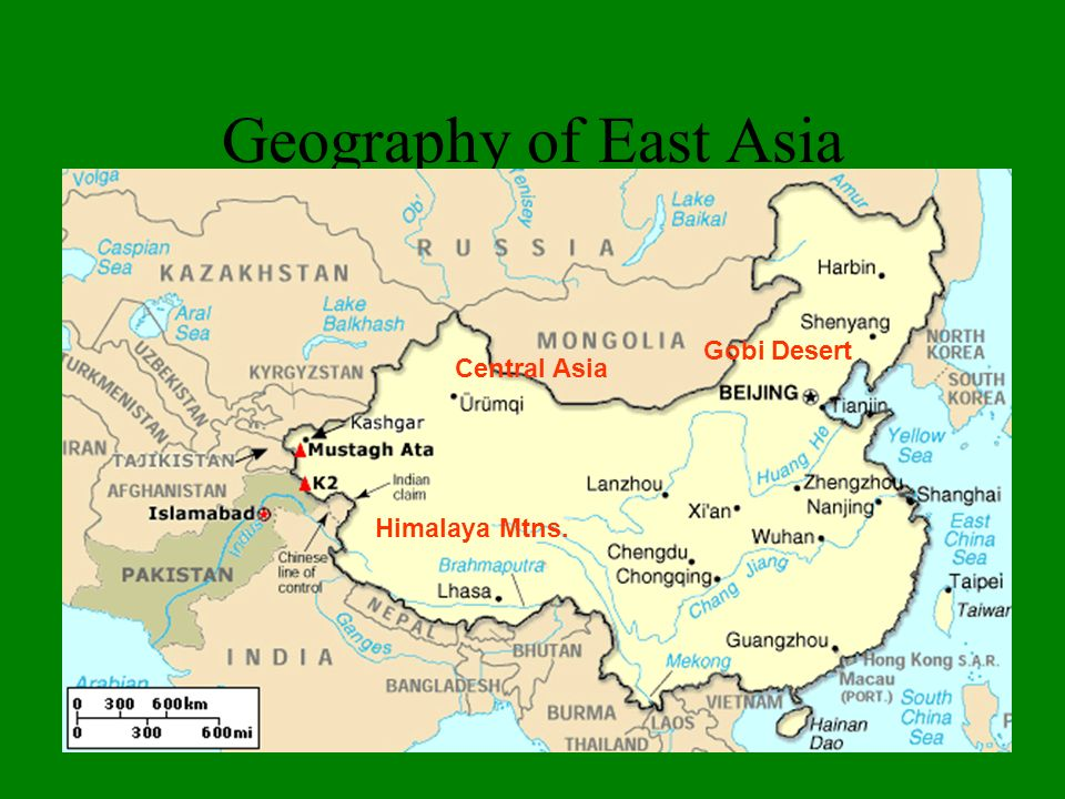 Geography of East Asia Gobi Desert Central Asia Himalaya Mtns.