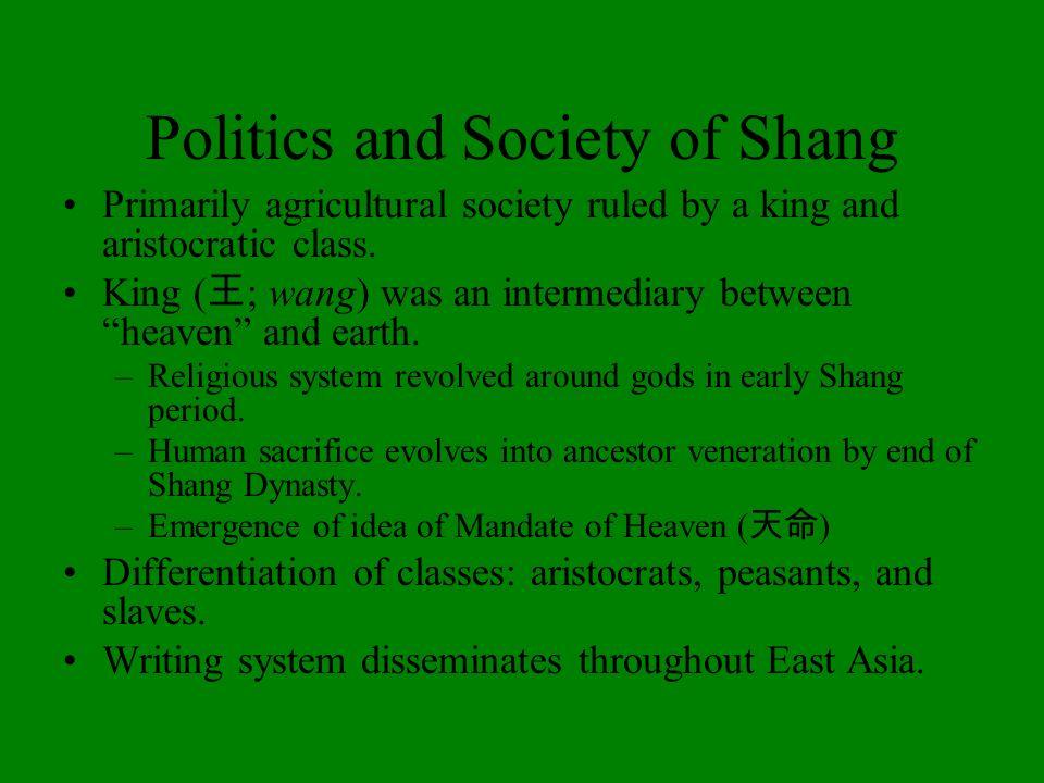 Politics and Society of Shang