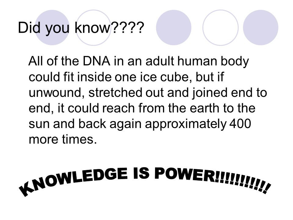 Did you know KNOWLEDGE IS POWER!!!!!!!!!!!