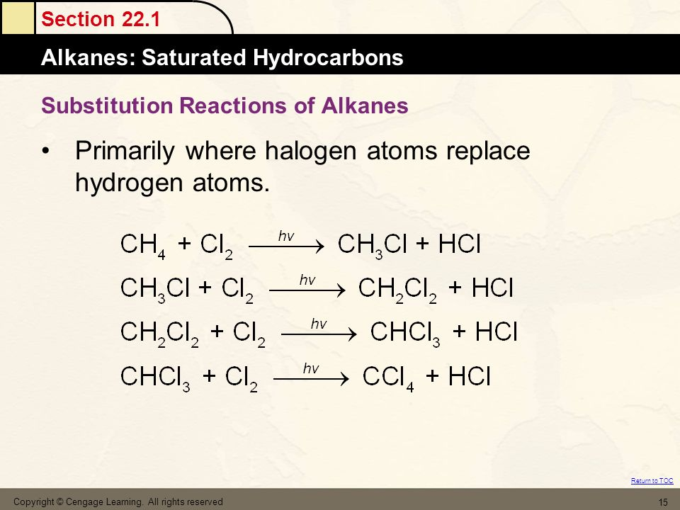 Substitution Reactions of Alkanes