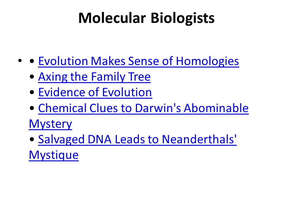 Molecular Biologists