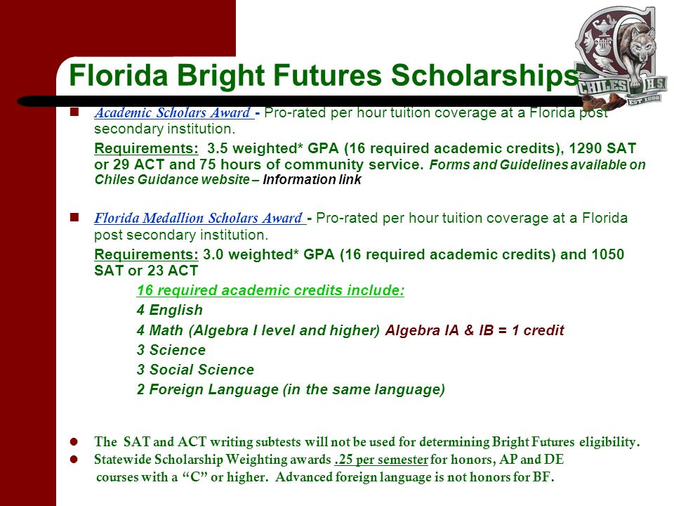 Bright futures scholarship essay requirements