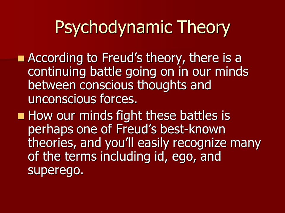 Psychodynamic Theory