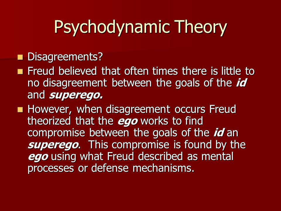 Psychodynamic Theory Disagreements