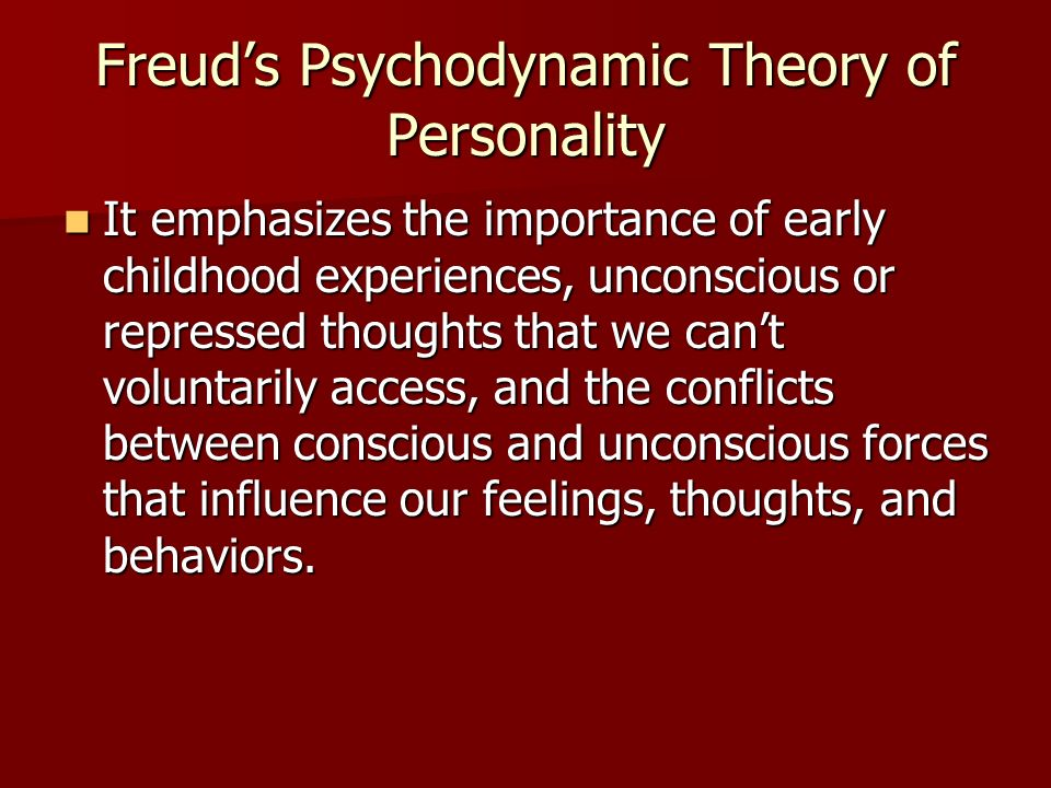 Freud's Psychodynamic Theory of Personality