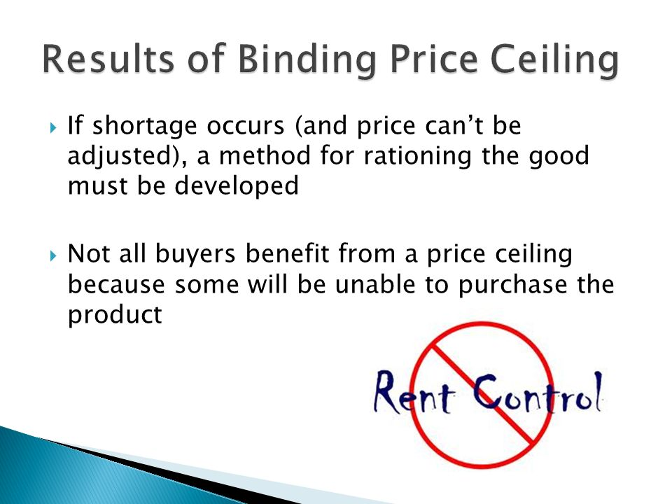Superb Results Of Binding Price Ceiling