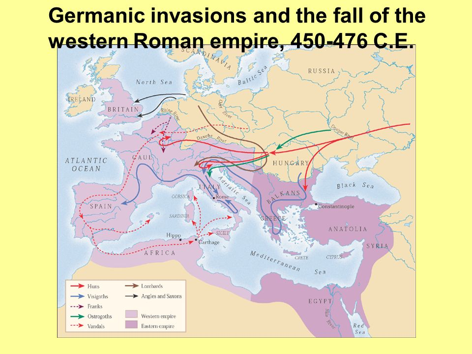 Germanic invasions and the fall of the western Roman empire, 450-476 C